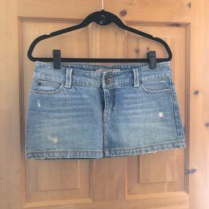 Hollister Distressed Mini Denim Skirt